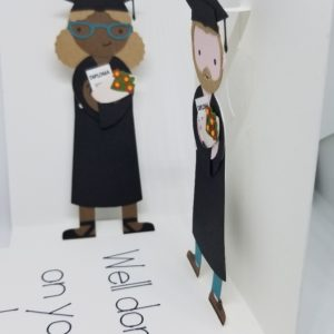 Graduation pop-up cards.