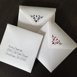Envelopes for pop-up card.