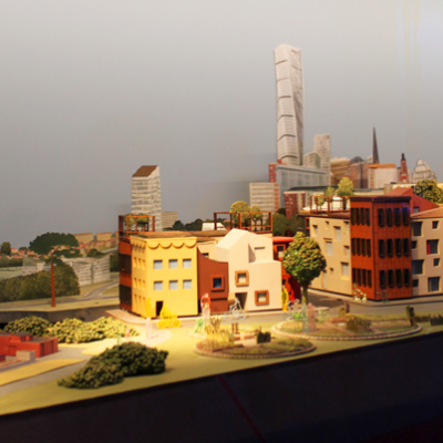 Model of Malmö city with laser cut buildings. Head Designer,  Anders Hellström