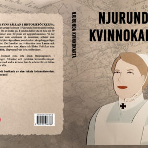 "Cover featuring a cut out paper illustration for the book ""Njurunda Kvinnokarta""."