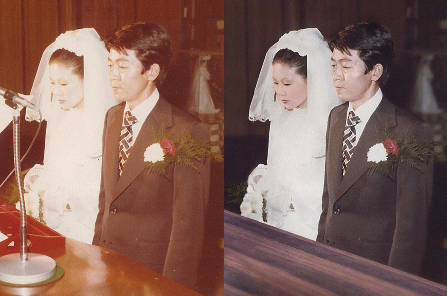 Restored and cleaned up wedding picture.