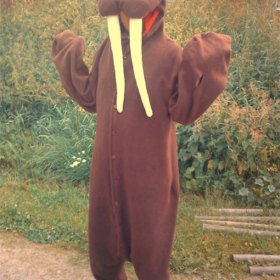 Simple walrus costume.