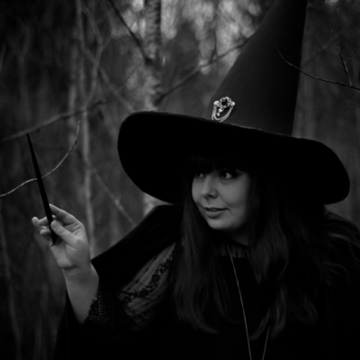 "Witch hat made from foam and fabric.  Photo by <a href=""https://www.instagram.com/linneahaden/"">Linnéa Hådén</a>."